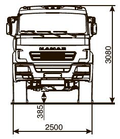 Седельный тягач КАМАЗ-53504 - габариты