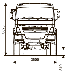 Шасси КАМАЗ-63501-40 - габариты