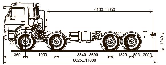 Шасси КАМАЗ-63501-40