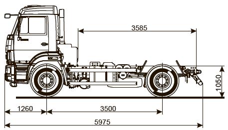 Шасси КАМАЗ-43255-R4