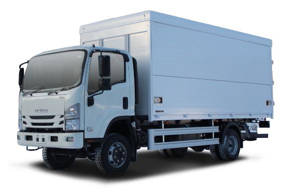 Промтоварный фургон с трехсторонней загрузкой ISUZU ELF 7.5 4x4