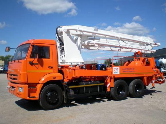 Автобетононасос 58153А на шасси КАМАЗ 65115 с комплектующими LIEBHERR